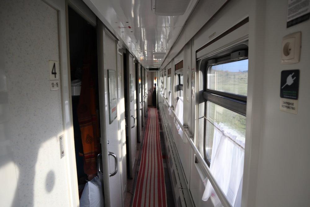 Trans-Mongolian Railway (RZD) Second Class – Train corridor