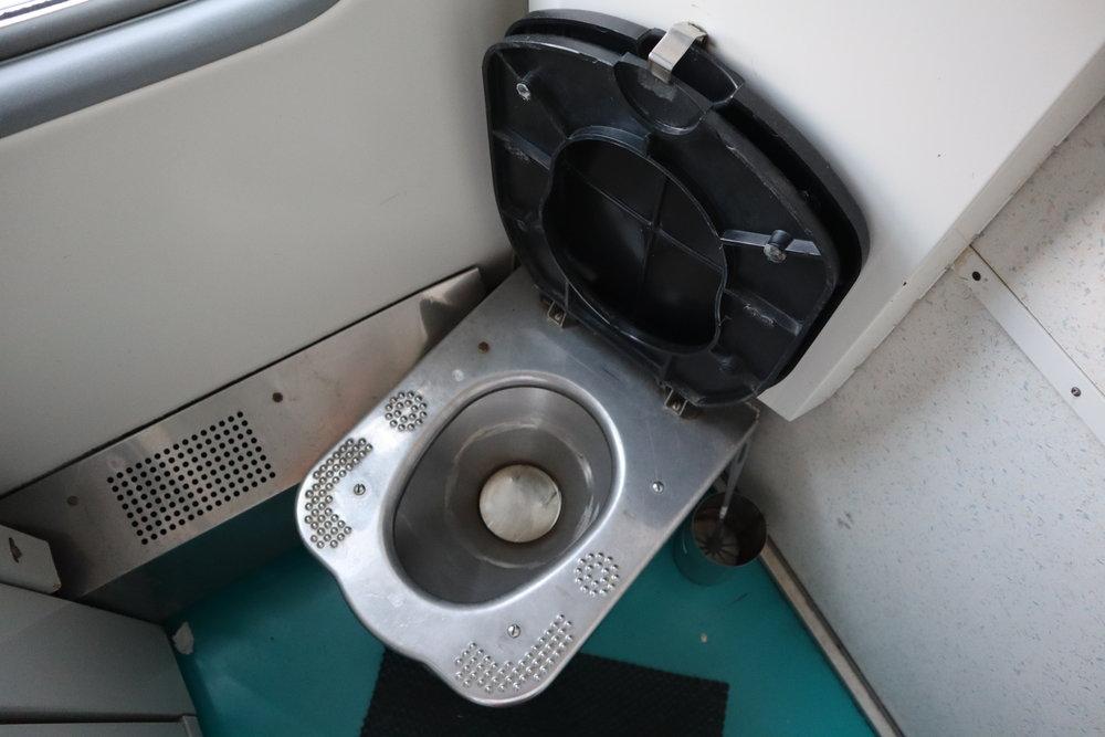 Trans-Mongolian Railway (RZD) Second Class – Toilet