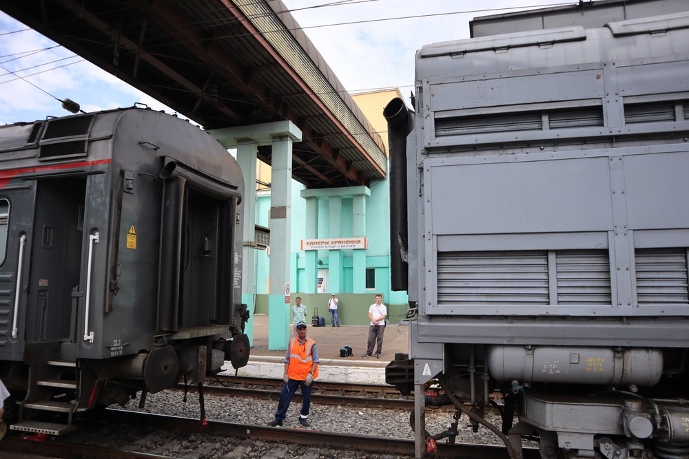 Locomotive change in Ulan-Ude