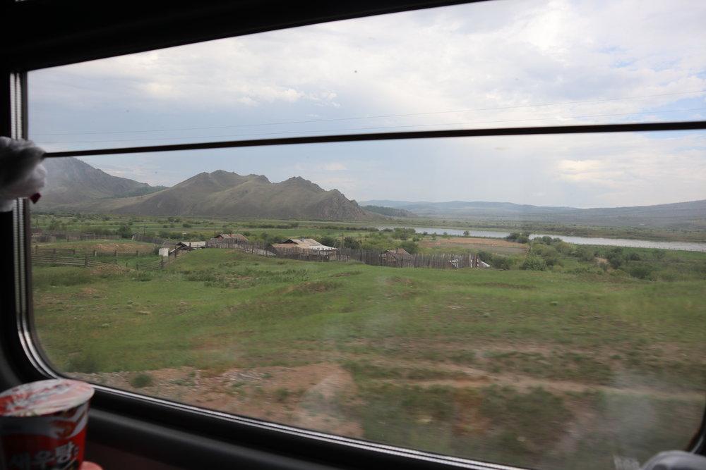 Trans-Mongolian Railway (RZD) Second Class – Scenery near Ulan-Ude