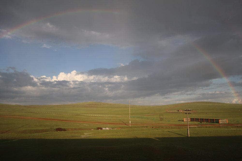 Trans-Mongolian Railway (RZD) Second Class – Scenery near Ulaanbaatar