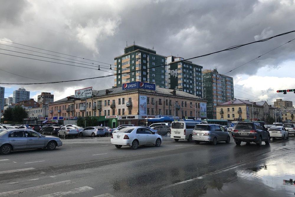 Street scene in Ulaanbaatar