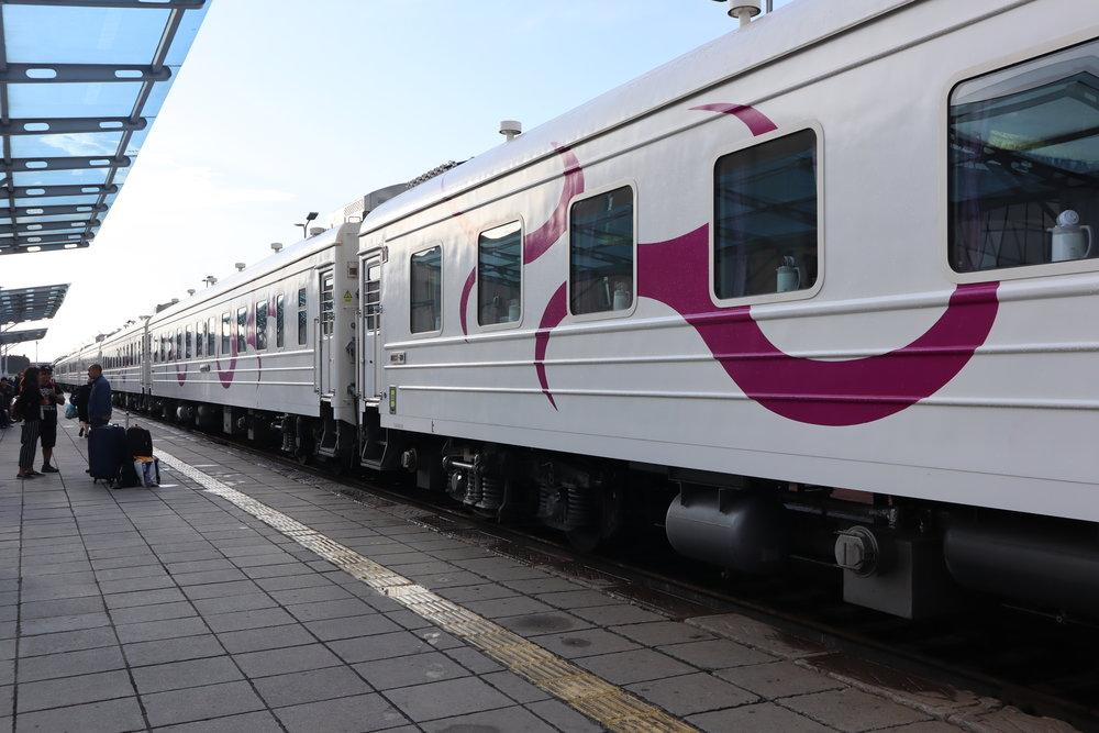 Trans-Mongolian Railway (UBTZ) train exterior