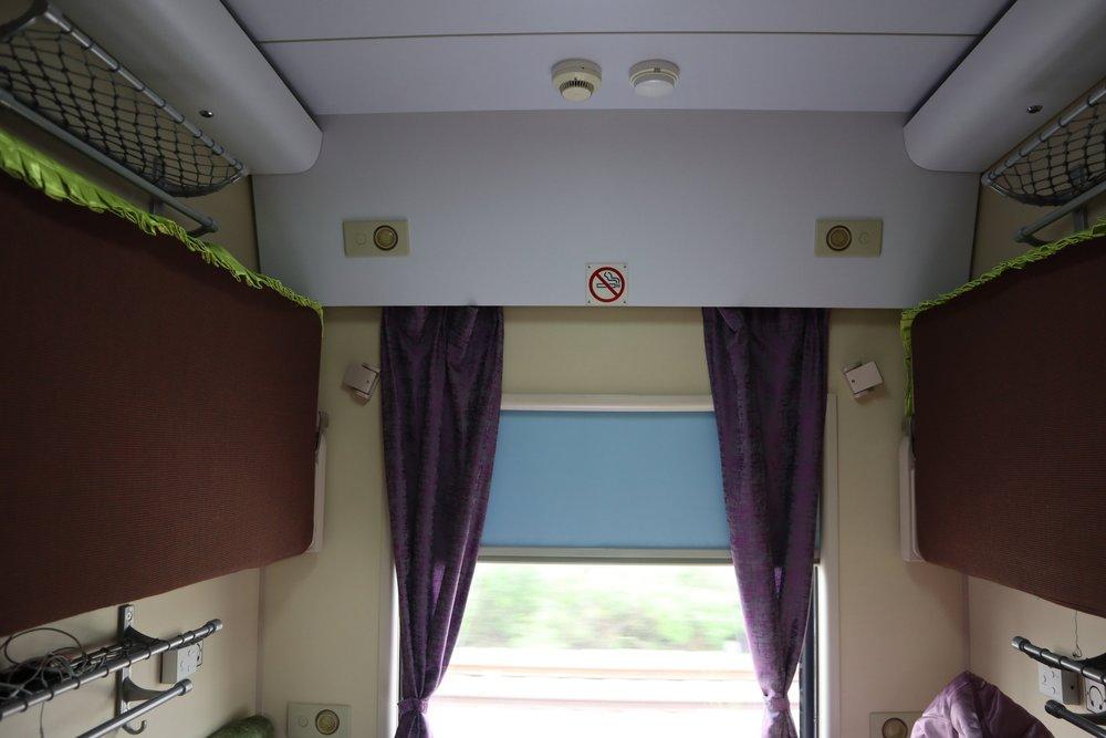 Trans-Mongolian Railway (UBTZ) Second Class – Stowed upper bunks