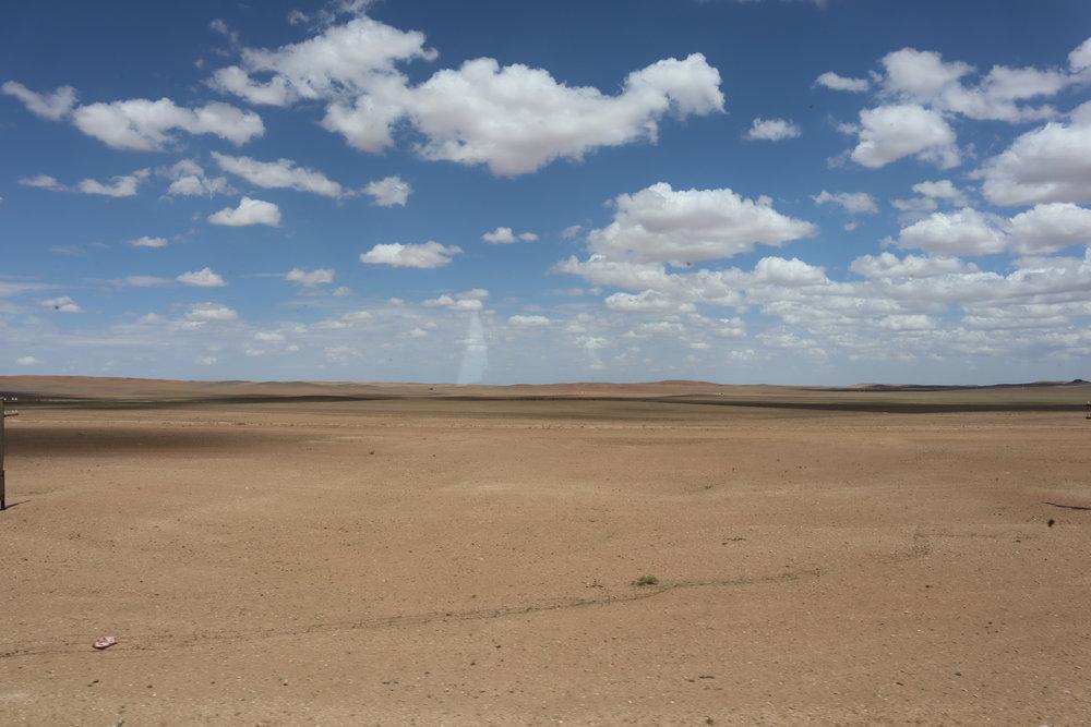 Trans-Mongolian Railway (UBTZ) Second Class – Desert scenery