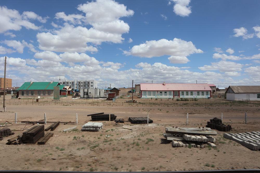 Trans-Mongolian Railway (UBTZ) Second Class – Desert settlement