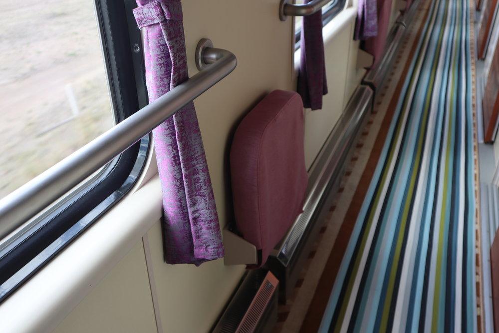 Trans-Mongolian Railway (UBTZ) Second Class – Foldable ottomans