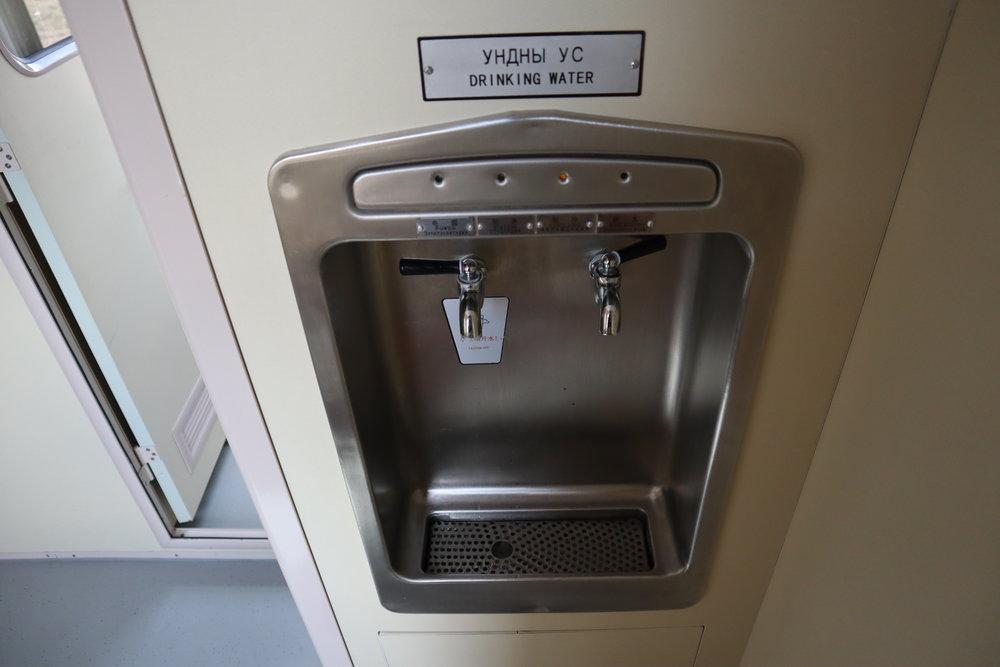 Trans-Mongolian Railway (UBTZ) Second Class – Water dispenser