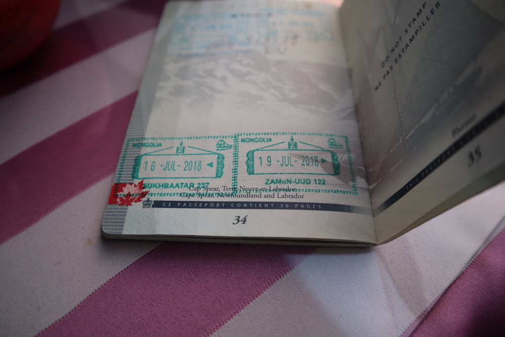 Mongolia exit stamp