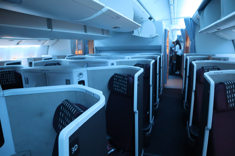 Japan Airlines 777 business class