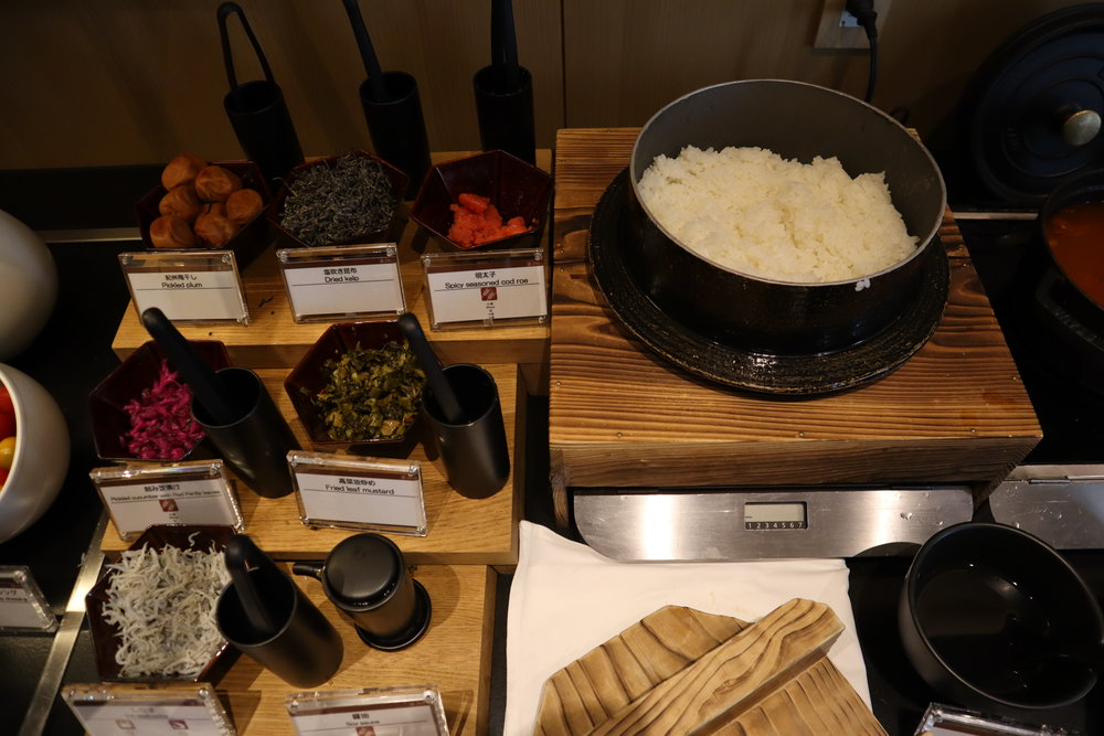 The Prince Sakura Tower Tokyo – Executive Lounge Japanese breakfast
