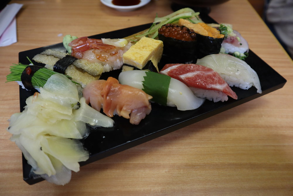 Sushi lunch at the Tsukiji Outer Market