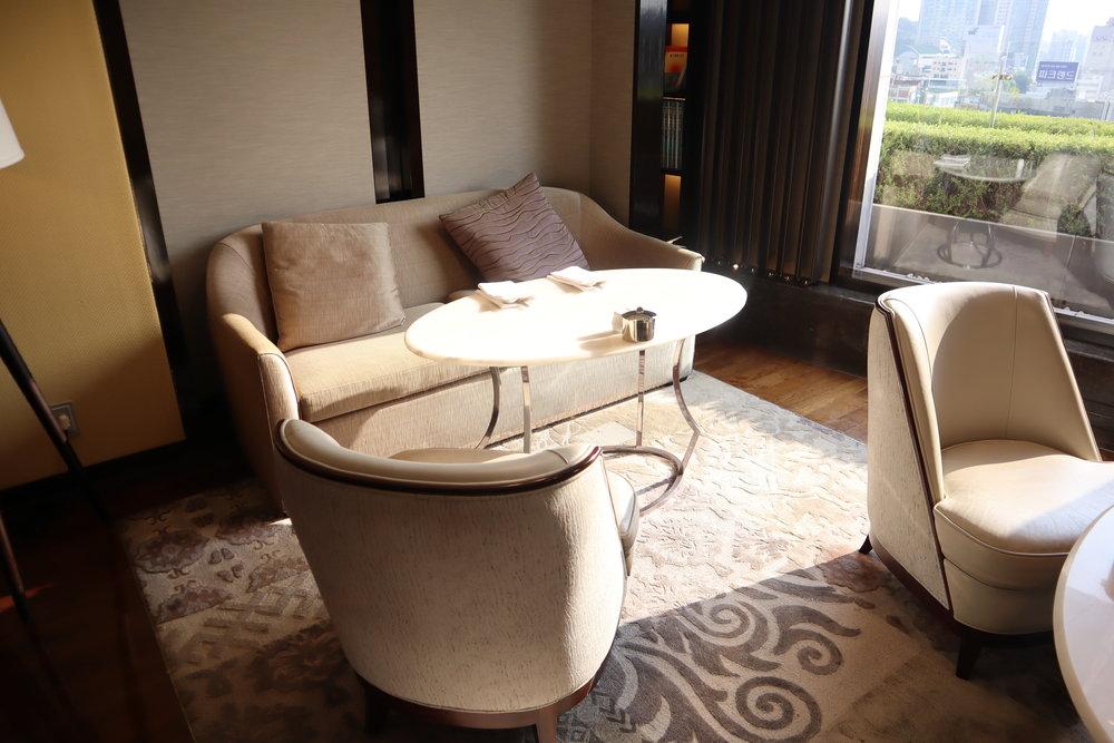 JW Marriott Dongdaemun Square Seoul – Executive Lounge seating