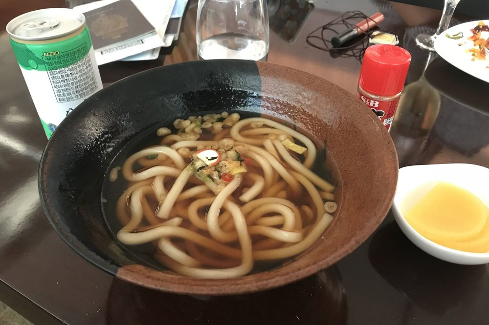 Asiana Airlines First Class Lounge – Udon noodles