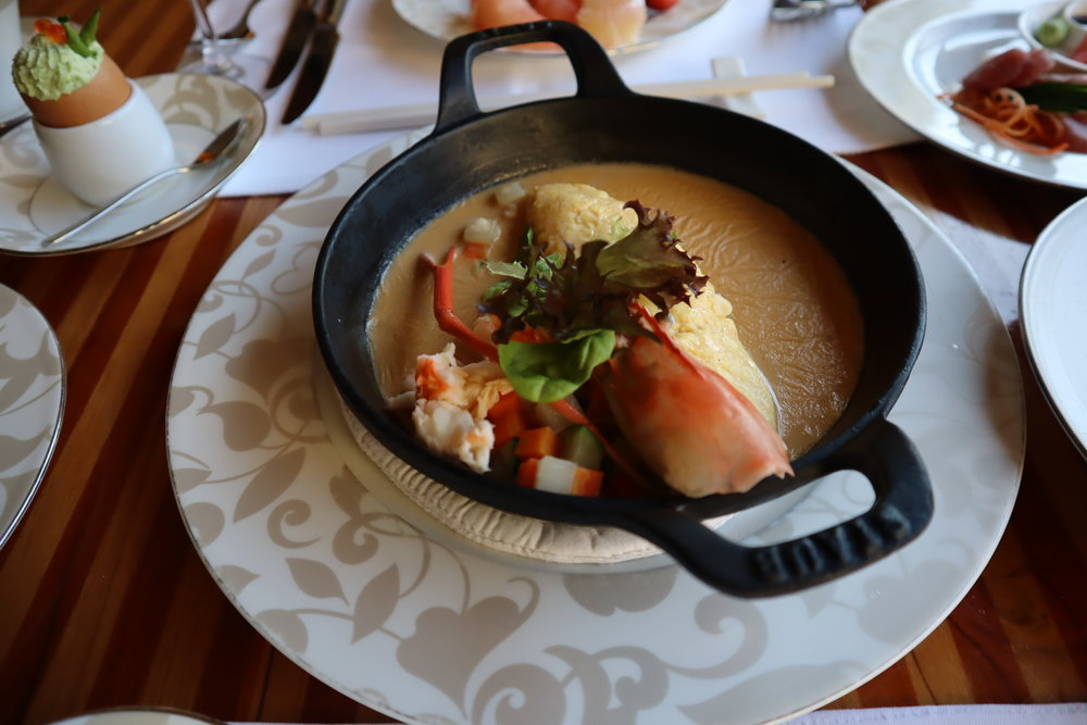 Lobster omelette for breakfast, St. Regis Bali