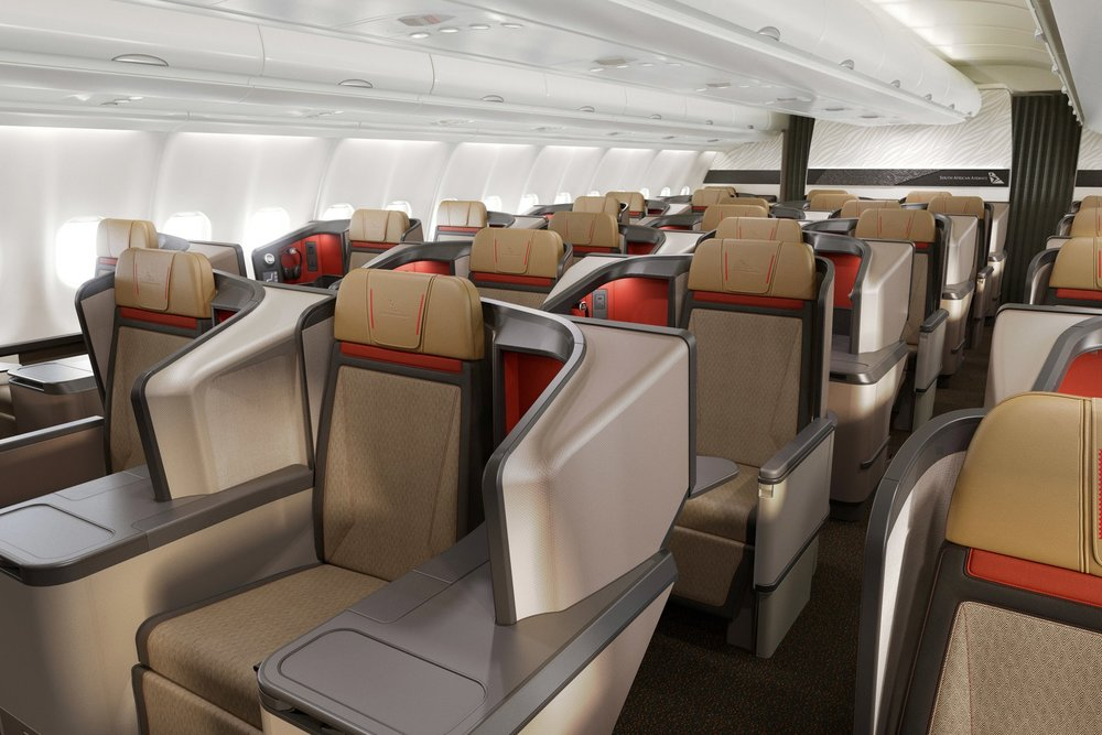 South African Airways A330 business class