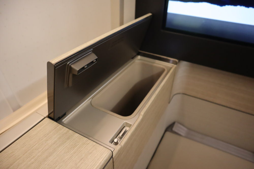 Asiana Airlines First Class – Storage nook