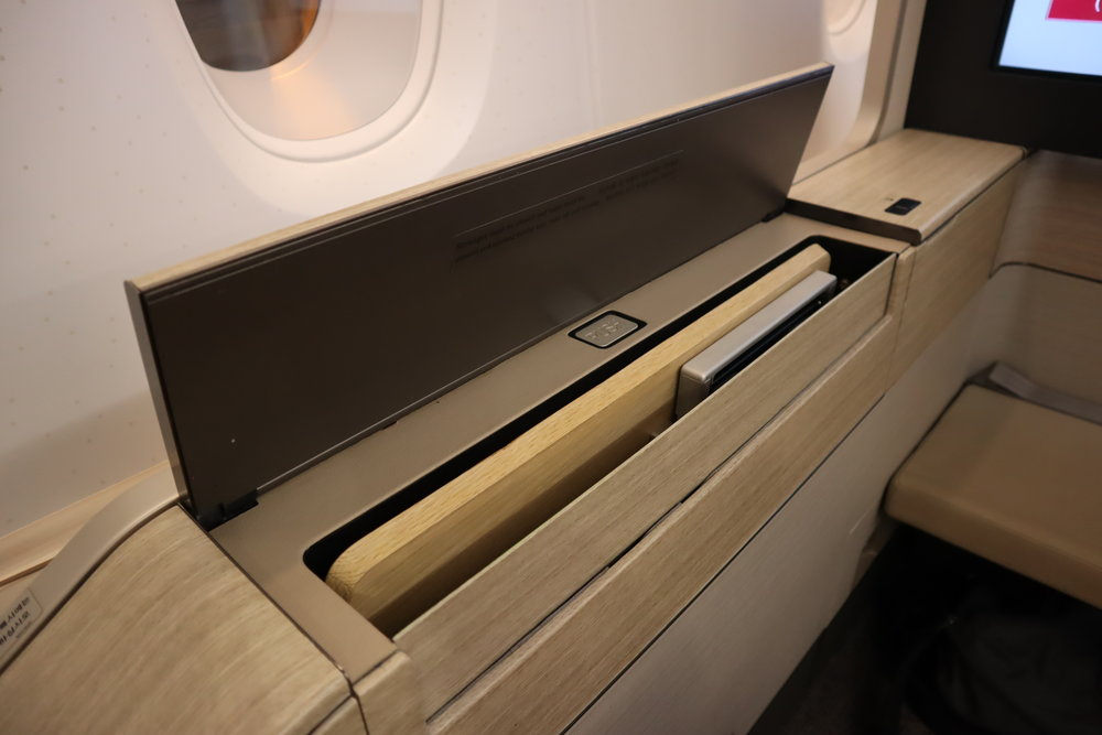 Asiana Airlines First Class – Tray table holder