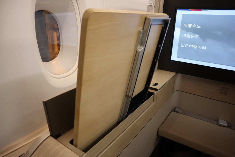 Asiana Airlines First Class – Tray table