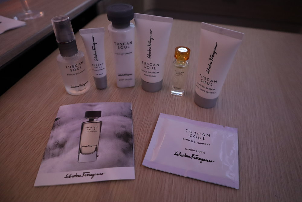 Asiana Airlines First Class – Tuscan Soul skincare items