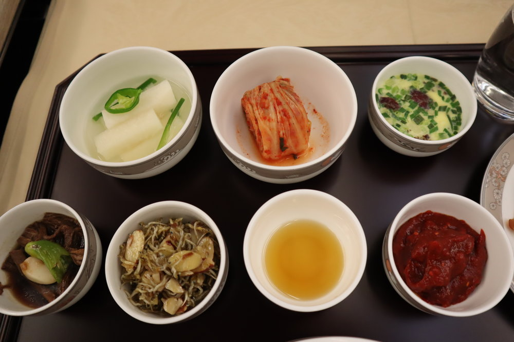 Asiana Airlines First Class – Korean side dishes