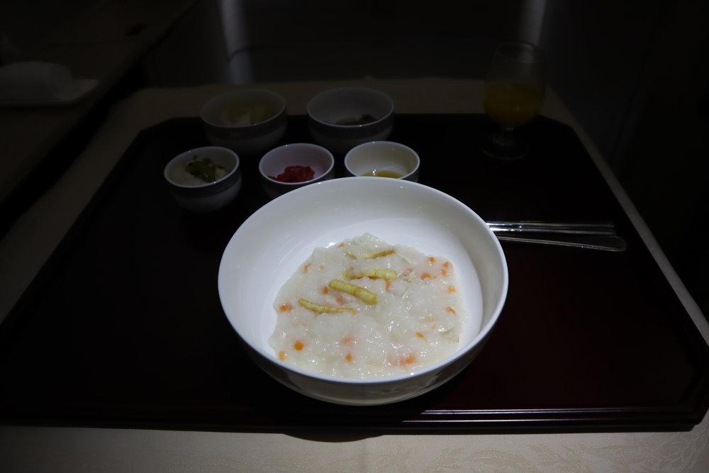 Asiana Airlines First Class – Ginseng porridge