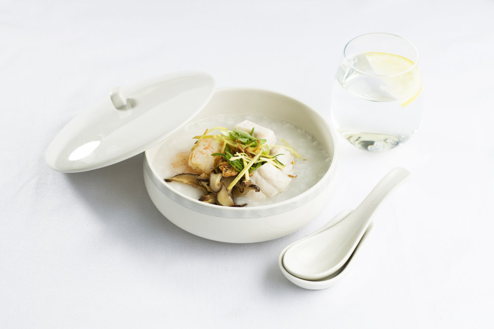 Chinese congee, available on flights departing from Beijing