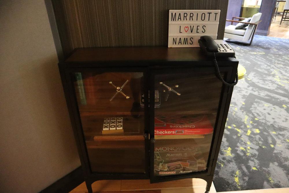 Marriott Portland Downtown Waterfront – M Club board games