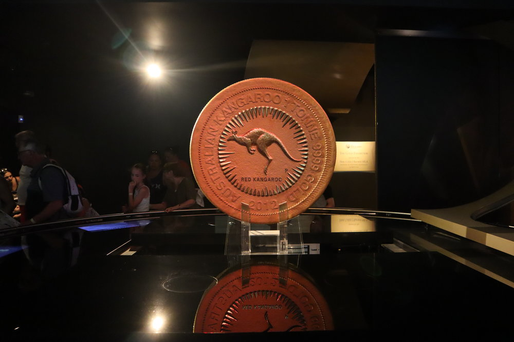 The world's largest gold coin at the Perth Mint