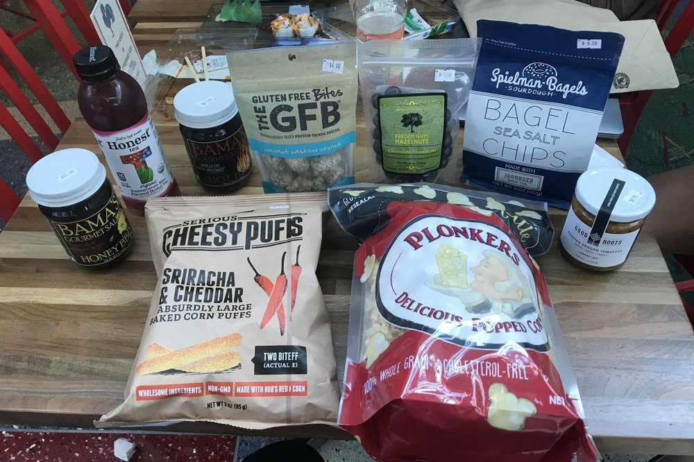 Free snacks, spices, and spreads to take home from Capers Market
