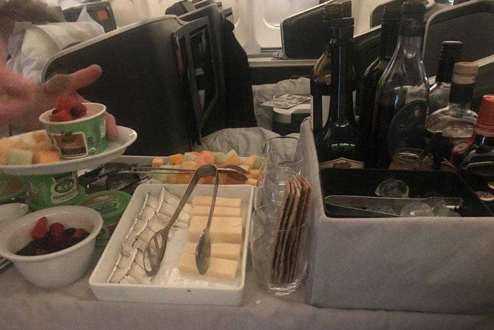 SAS business class – Dessert cart