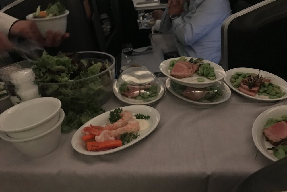 SAS business class – Appetizer cart