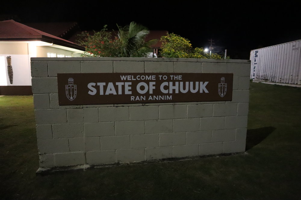 Welcome sign at Chuuk International Airport