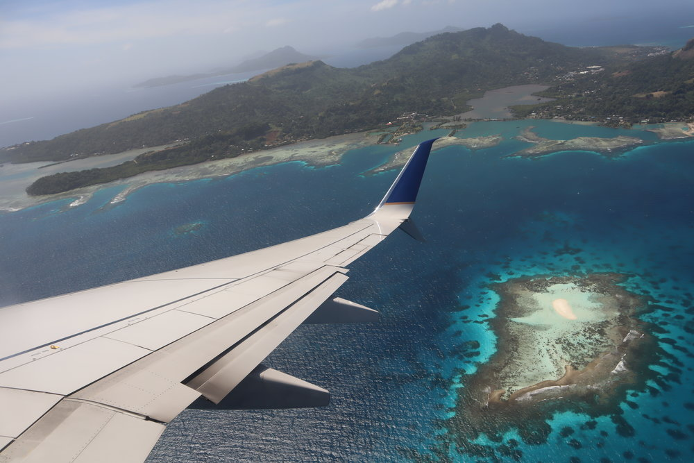 Views on departure from Chuuk