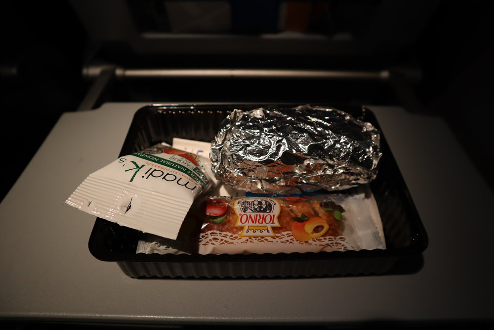 Small sandwich served en route to Hawaii