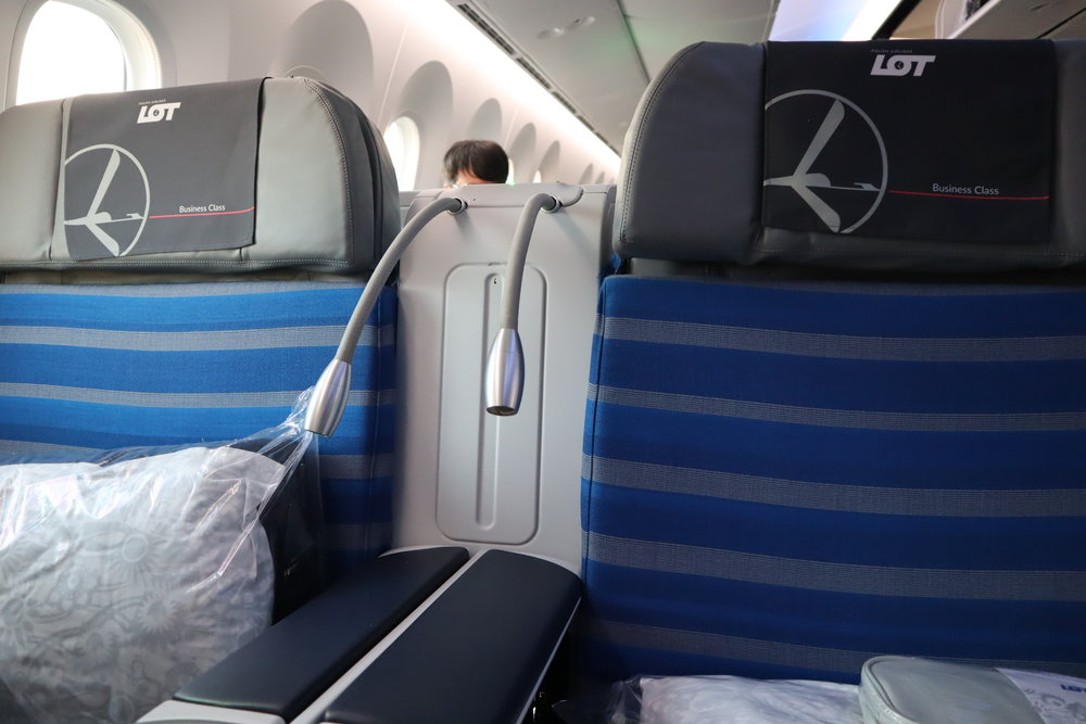 LOT Polish Airlines business class – Reading light