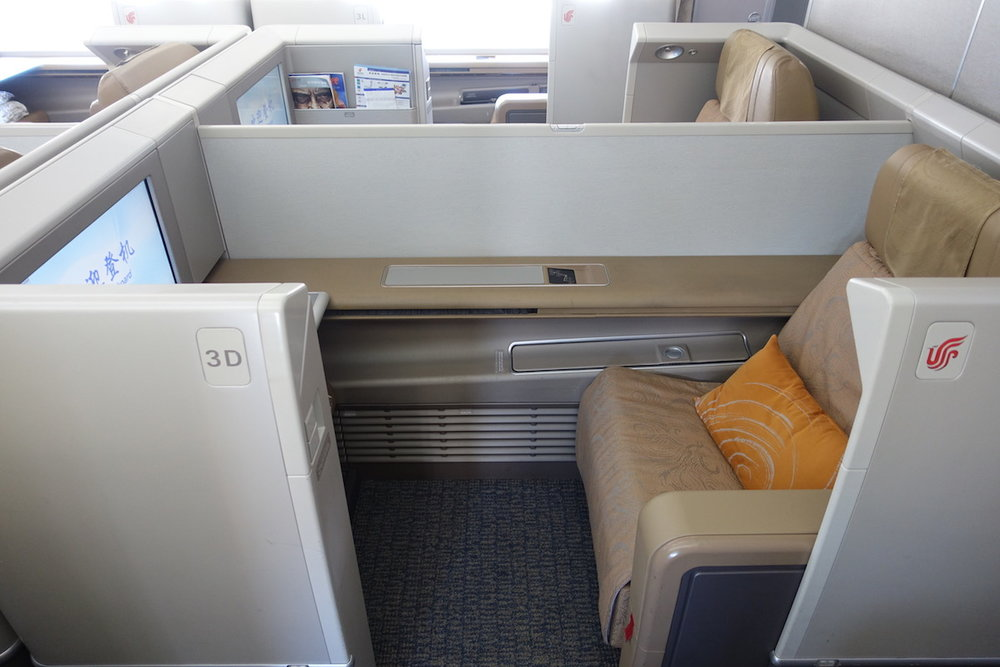 Air China First Class on the Boeing 747
