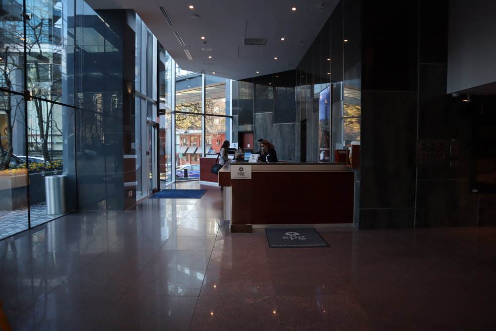 Sheraton Vancouver Wall Centre – South Tower front desk