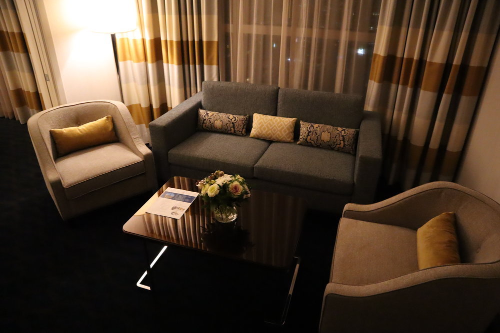 Sheraton Vancouver Wall Centre – Corner suite sitting area