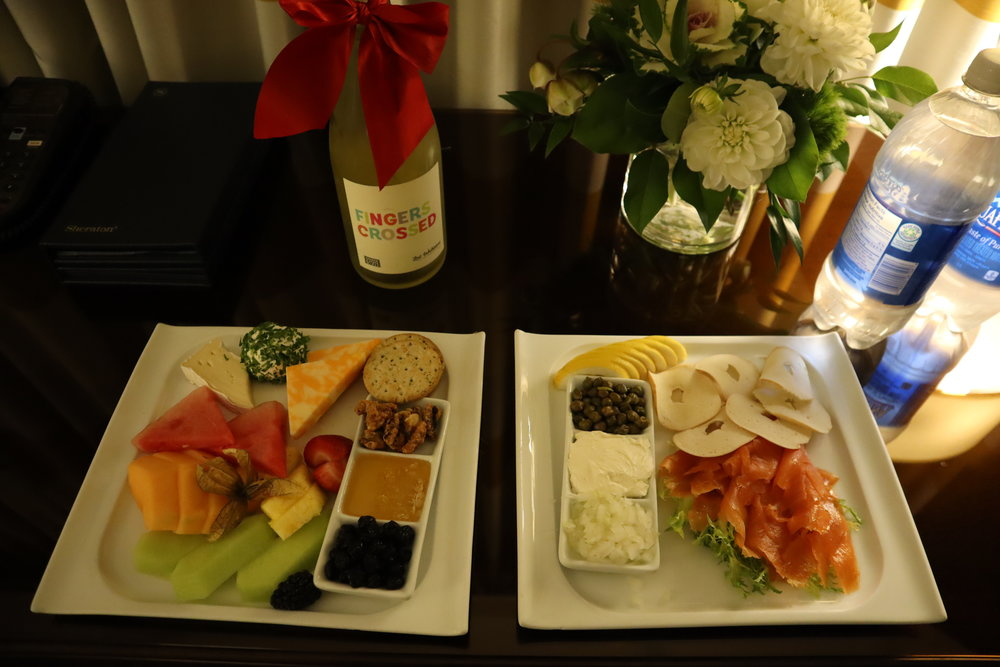Sheraton Vancouver Wall Centre – Complimentary welcome amenity