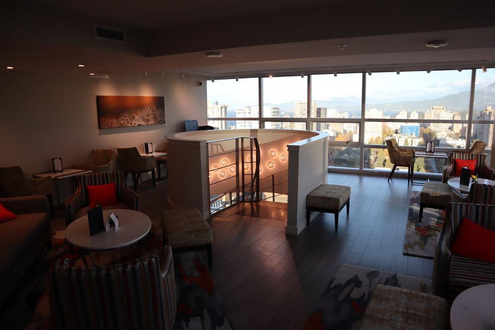 Sheraton Vancouver Wall Centre – Sheraton Club Lounge upper floor