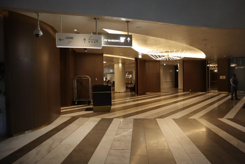 JW Marriott Parq Vancouver – Lobby sign