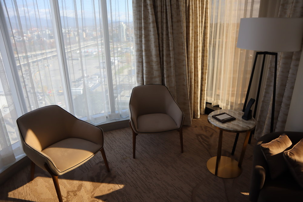 JW Marriott Parq Vancouver – Living room chairs