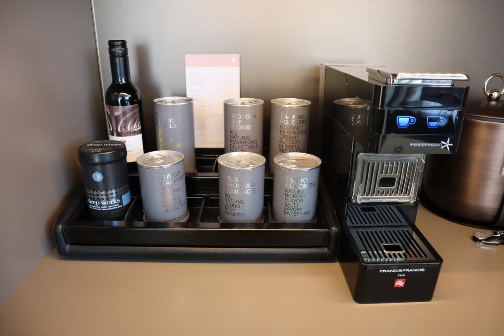 JW Marriott Parq Vancouver – Pantry contents