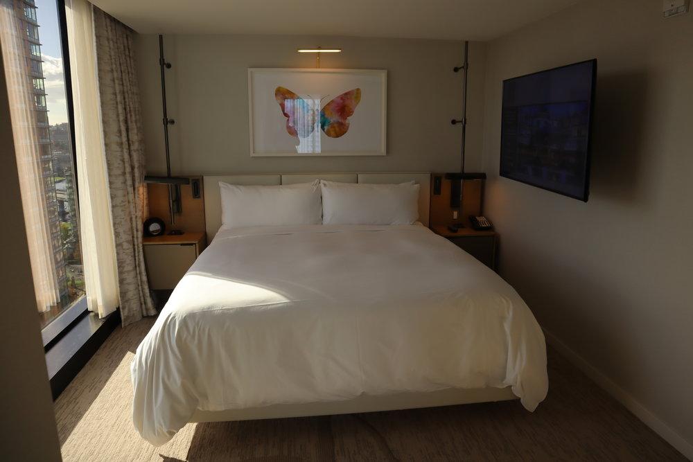 JW Marriott Parq Vancouver – One-bedroom suite bedroom