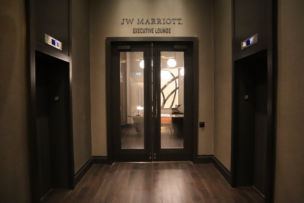 JW Marriott Parq Vancouver – Executive Lounge entrance