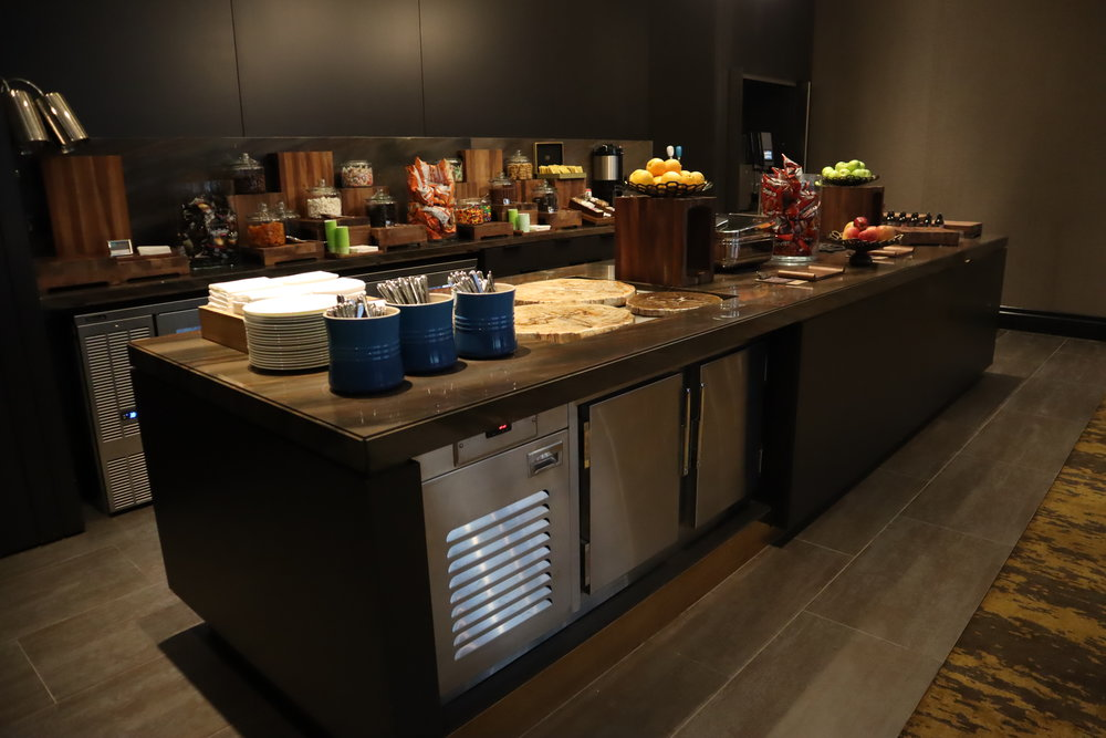 JW Marriott Parq Vancouver – Executive Lounge buffet