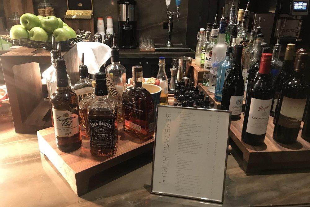 JW Marriott Parq Vancouver – Executive Lounge honour bar