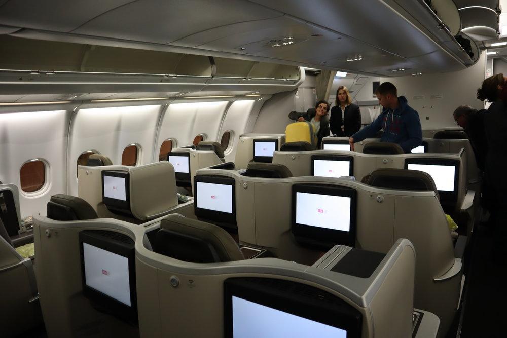 TAP Air Portugal business class – Cabin