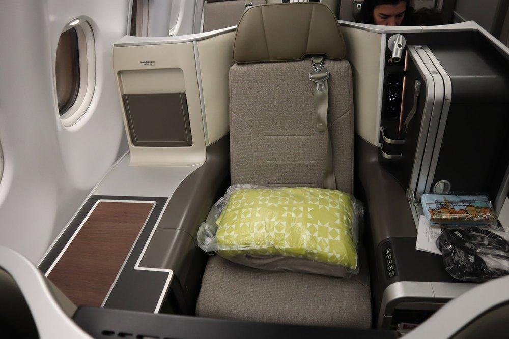 TAP Air Portugal business class – Seat 5J